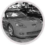2010 Chevrolet Corvette Grand Sport Bw  Round Beach Towel