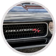 2011 Dodge Challenger Rt Black Round Beach Towel