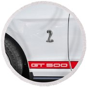 2012 Ford Shelby Mustang Gt500 Painted  Round Beach Towel