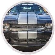 2013 Dodge Challenger Srt Round Beach Towel
