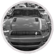 2013 Ford Mustang Gt Cs Painted Bw Round Beach Towel