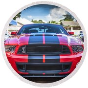 2013 Ford Shelby Mustang Gt500 Round Beach Towel