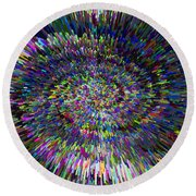 3 D Dimensional Art Abstract Round Beach Towel