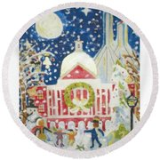 A Holiday Affair Round Beach Towel