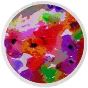A Little Watercolor Round Beach Towel