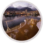 A Night View Of The Victoria And Alfred Round Beach Towel