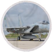 A Royal Saudi Air Force F-15c At Nancy Round Beach Towel