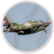 A T-2e Buckeye Trainer Aircraft Round Beach Towel
