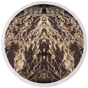 Abstract 25 Round Beach Towel