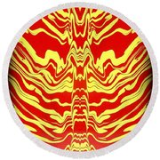 Abstract 48 Round Beach Towel