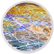 Abstract Background - Citylights At Night Round Beach Towel