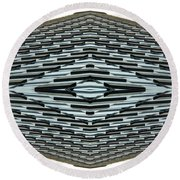 Abstract Buildings 2 Round Beach Towel