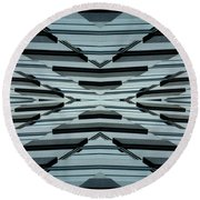 Abstract Buildings 3 Round Beach Towel