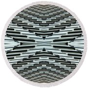 Abstract Buildings 5 Round Beach Towel