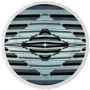 Abstract Buildings 6 Round Beach Towel