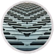 Abstract Buildings 7 Round Beach Towel