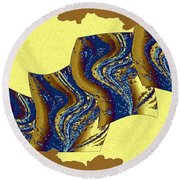 Abstract Fusion 177 Round Beach Towel
