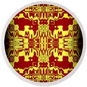 Abstract Series 3 Round Beach Towel