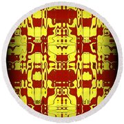 Abstract Series 6 Round Beach Towel