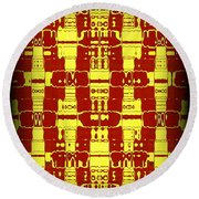 Abstract Series 7 Round Beach Towel