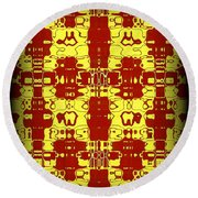 Abstract Series 8 Round Beach Towel