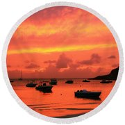 After Sunset Round Beach Towel