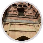 Agra Fort In India Round Beach Towel