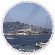 Alcatraz, C1998 Round Beach Towel
