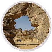 Algeria Desert Round Beach Towel