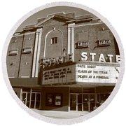 Alpena Michigan - State Theater Round Beach Towel
