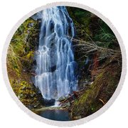 An Angel In The Falls Round Beach Towel by Jeff Swan