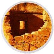 Anasazi Ruins Round Beach Towel