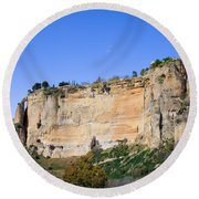 Andalusia Landscape In Spain Round Beach Towel