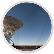 Antenna At Very Large Array Round Beach Towel