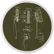 Antique Safety Razor Patent 1926 Round Beach Towel