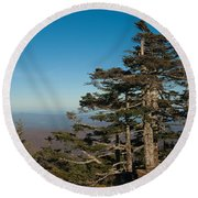 Appalachian Mountains From Mount Mitchell  Round Beach Towel