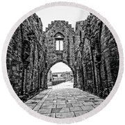 Arbroath Abbey Round Beach Towel