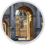 Arc De Triomphe Du Carrousel Round Beach Towel