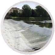 Arno River 2 Round Beach Towel