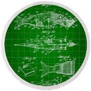 Artificial Bait Patent 1923 - Green Round Beach Towel