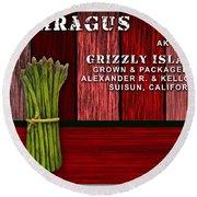 Asparagus Farm Round Beach Towel