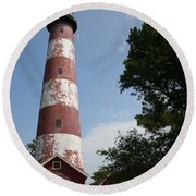 Assateague Lighthouse Round Beach Towel