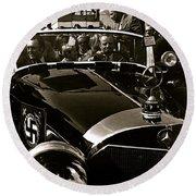 Auction Sale Last Ride Adolf Hitler's Model 770-k 1941 Mercedes-benz Touring Car Scottsdale Az 1973 Round Beach Towel
