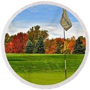 Autumn Golf Round Beach Towel