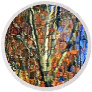 Autumnal Abstracious Round Beach Towel