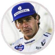 Ayrton Senna Round Beach Towel