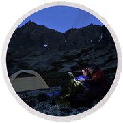 Backpacking Alaska Chugach Mountains Round Beach Towel