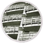 Balconies Round Beach Towel