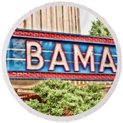 Bama Round Beach Towel