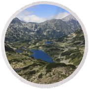 Banderishki Lakes Pirin National Park Bulgaria Round Beach Towel